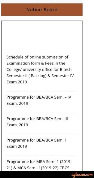 SKMU Exam Schedule