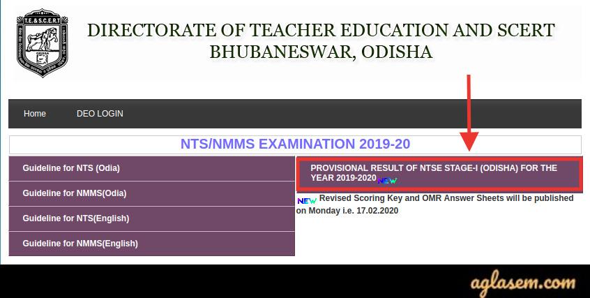 Odisha NTSE Result 2020 Stage 1 🏆 - Available!