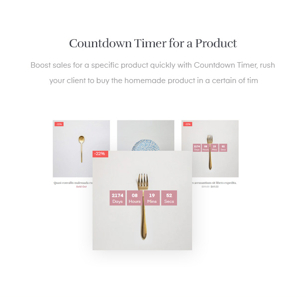 Countdown Timer for a Product
