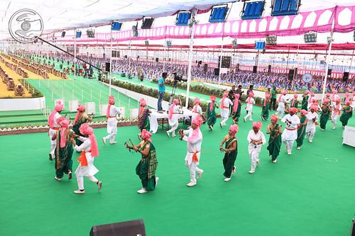 Devotees presented Lezim Folk dance