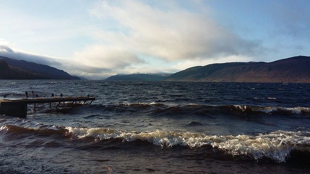 Loch Ness from Dores Beach, Dores, Jan 2020
