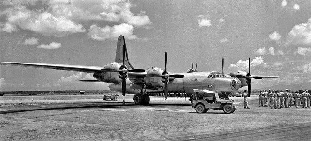 Consolidated Dominator B-32 Bomber arrives on Philippines in May 1945