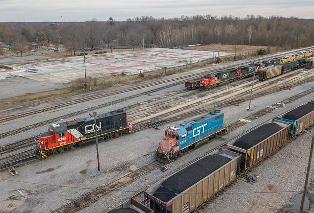GTW 6228, 6224 (GP38-2) Fulton, Kentucky