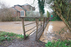 Haven Footbridge flood