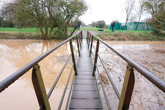 Haven Footbridge flood from bridge