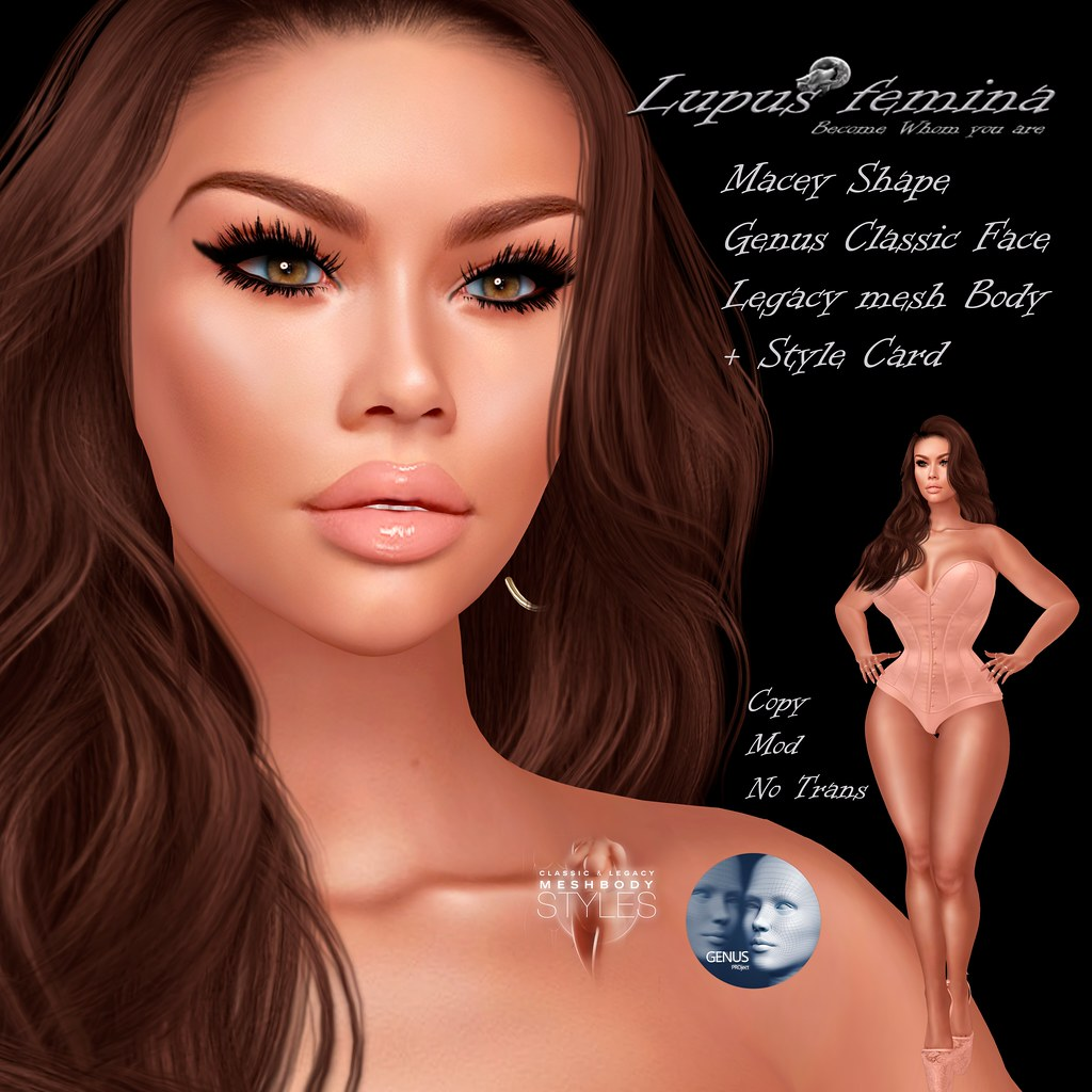 """Lupus Femina"" Macey Shape- Genus Classis/Legacy"
