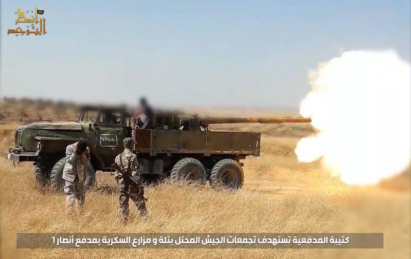 115mm-2A20-T-62-Ural-ansar-al-tawhid-syria-2019-sf-1
