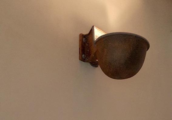 Muurlamp hal roest landelijk