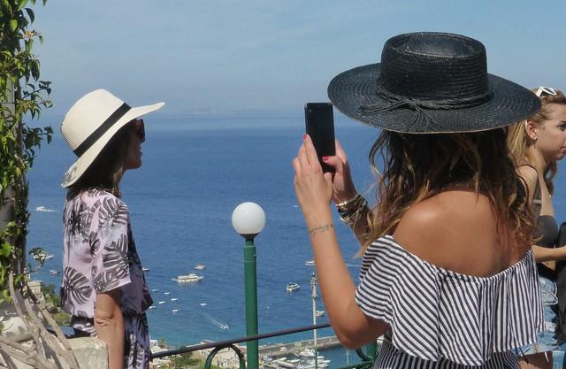 photographing on Capri