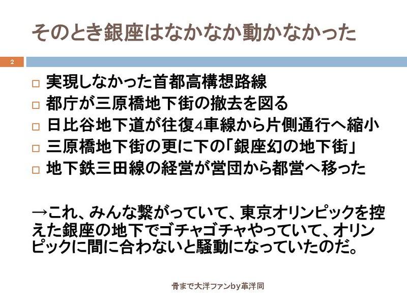 東京オリンピックに向けて銀座の地下で何が起こっていたのか (2)