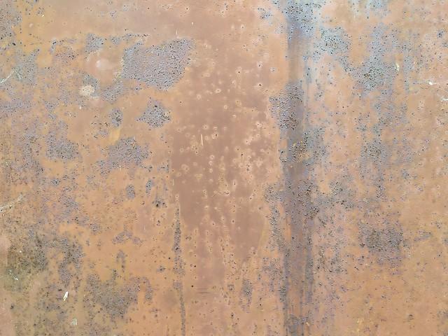 Brown cracked metal surface