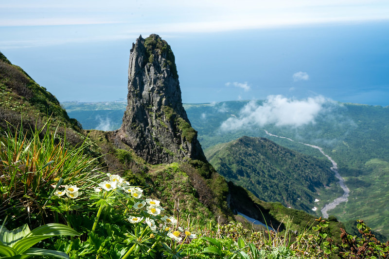 利尻山の山頂