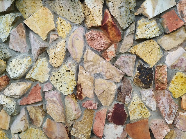 Stone wall texture with concrete
