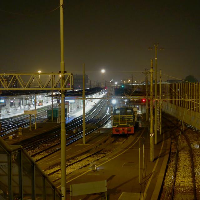 Bologna Centrale. Notturno . Bologna Centrale Railway station. Nocturnal