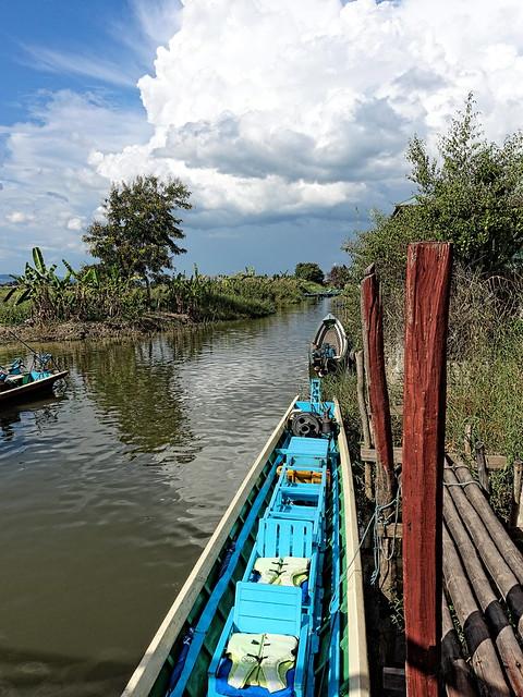 Inle Lake waterway in Burma
