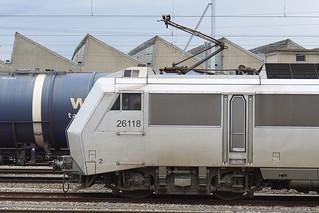 003. Une Sybic, BB 426118 SNCF en gare de la Praille, Genève (17.02.2020)