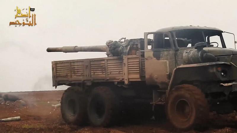 115mm-2A20-T-62-Ural-ansar-al-tawhid-syria-2020-twco-1