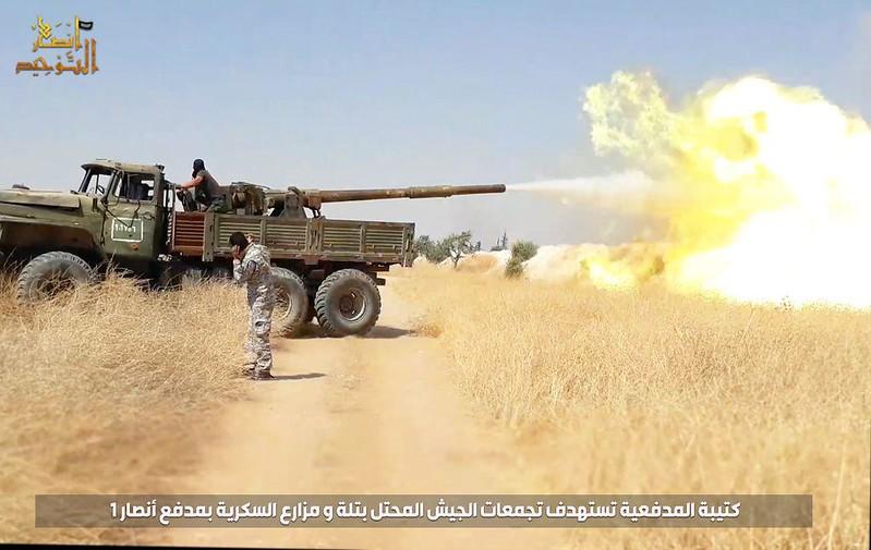 115mm-2A20-T-62-Ural-ansar-al-tawhid-syria-2019-sf-2