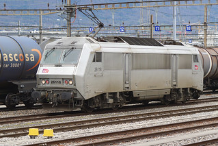 002. Une Sybic, BB 426118 SNCF en gare de la Praille, Genève (17.02.2020)