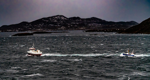 Rescue of a small ship off the coast of Norway