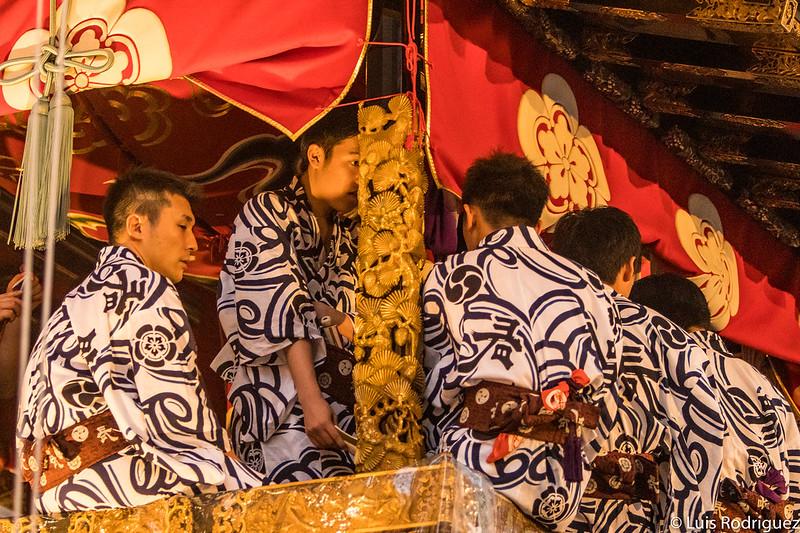 Detalles de la carroza Naginata Boko