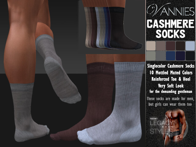 VANNIES Socks for Legacy: Cashmere Socks