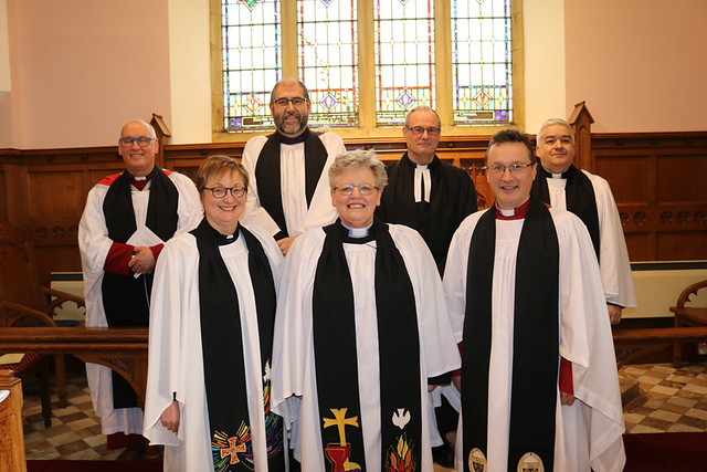 Clergy pictured at the institution of the Rev Linda Cronin in St Aidan's Parish Church, Glenavy.