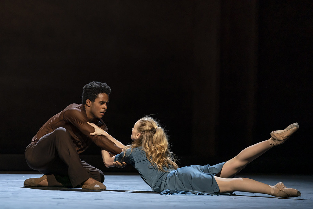 Marcelino Sambé and Lauren Cuthbertson in The Cellist, The Royal Ballet ©2020 ROH. Photograph by Bill Cooper
