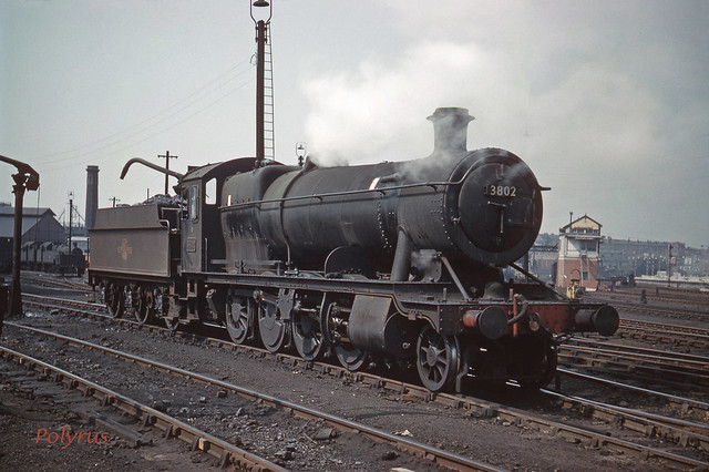 3802 by Birkenhead MPD (showing Blackpool Street signal box) in 1962
