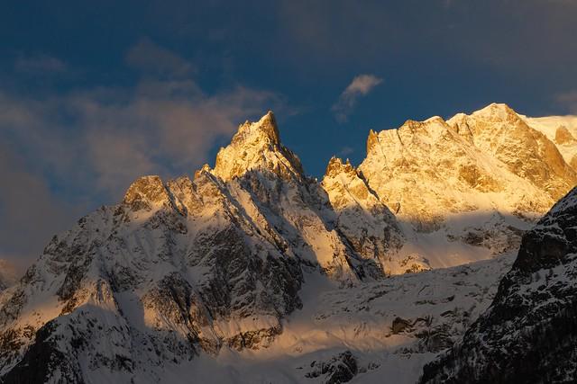 A la sortie du tunnel du Mont Blanc, côté Italien...