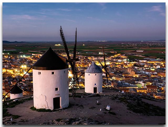 Molinos en Consuegra, provincia de Toledo.