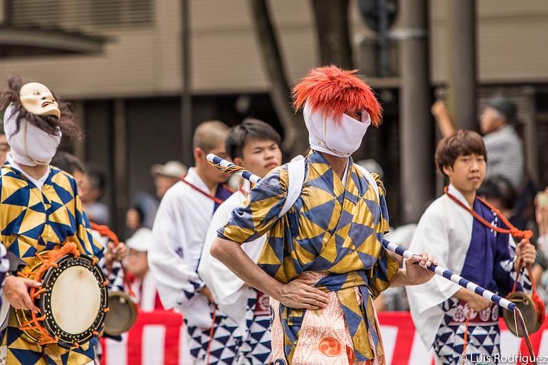 Bailarines de la carroza Ayagasa Hoko