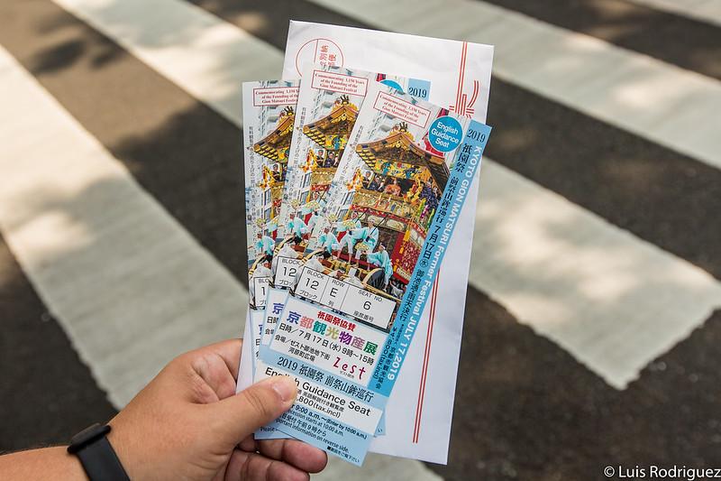 Nuestros tickets en los asientos de pago con información en inglés