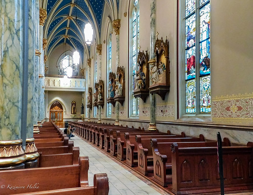 altar cathedral cathedralofstjohnthebaptist catholicchurch church fl floroda stainedglasswindows stationsofthecross statues sunset tree trees usa georgia ga