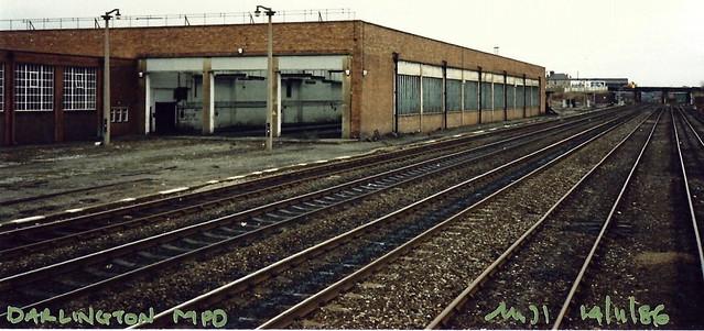 Former Darlington MPD, looking North.. 14-11-86