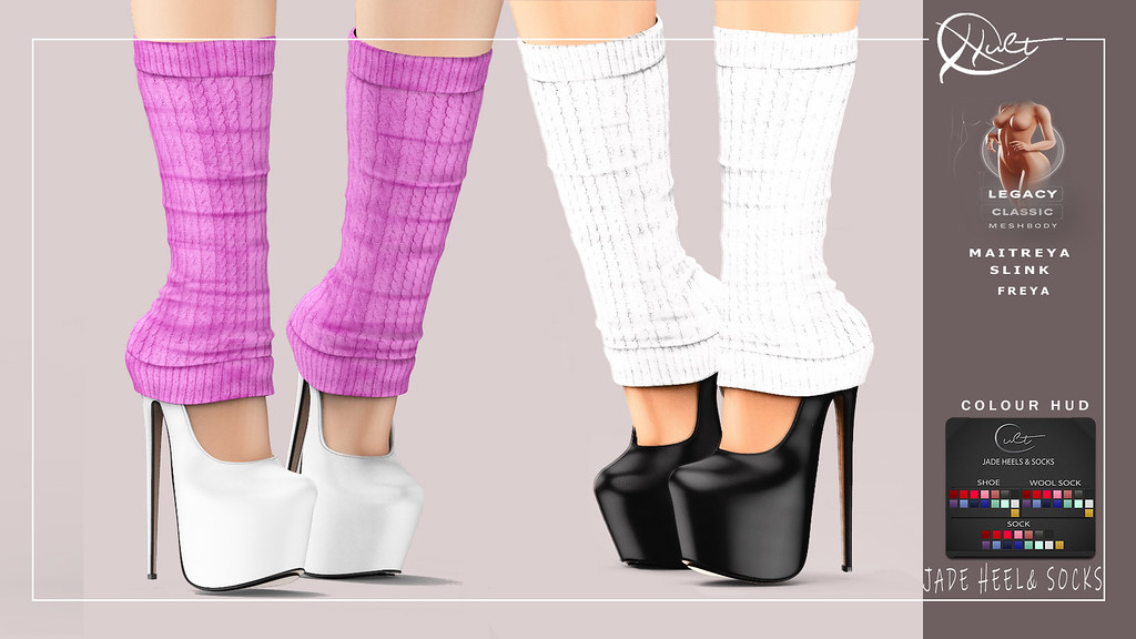 : CULT : Jade Heels & Socks with HUD