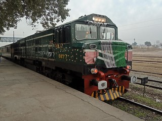 A Decorated ZCU-20 6417 with Rehman baba 48Dn At Attock Jn