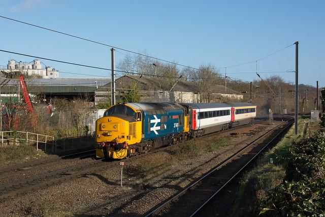 37401 Trowse Newton 17/02/20 - 5Z55 0935 Norwich C.Pt. T.&R.S.M.D to Neville Hill T&R.S.M.D