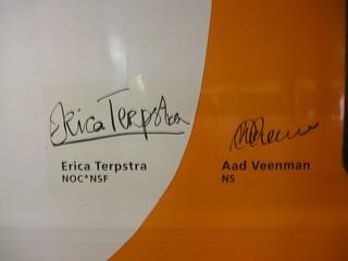 Handtekeningen Terpstra + Veenman