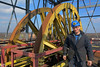 KWK Pstrowski - Szyb Staszic, poziom kół kierowniczych. / Coal Mine Pstrowski - Headframe Staszic, winding wheels.