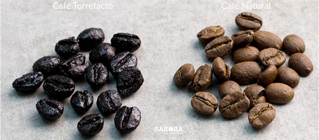 Café torrefacto frente a café natural