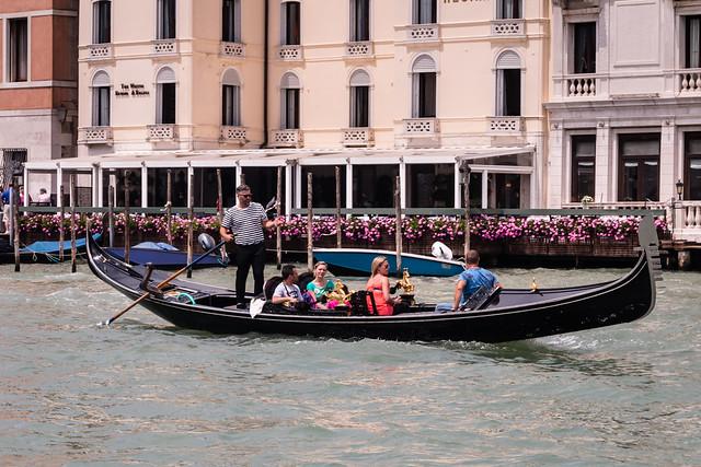 D0086E7 - Gondola Taxi In Venice