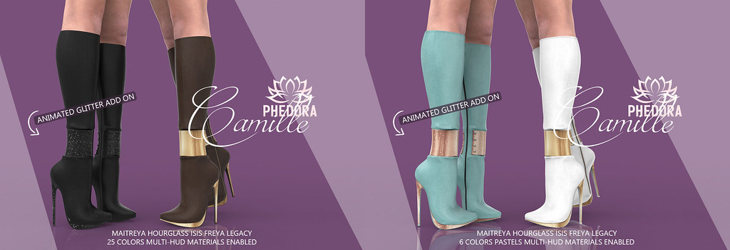 "Phedora for Kustom9 - ""Camille"" Boots ♥"