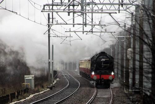 46100 Royal Scot approaching Kearsley