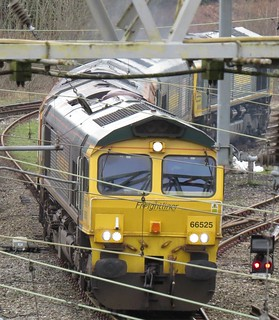 66525 66413 66524 & 66538 at Heaton Norris / Stockport 16/02/2020