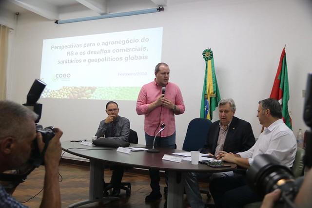 17/02/2020 Reunião da câmara setorial do mercosul e Comercio exterior na Secretaria Estadual de Agricultura - Porto Alegre
