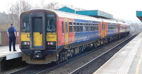 153357 + 153383 + 158858 - Chesterfield, Derbyshire