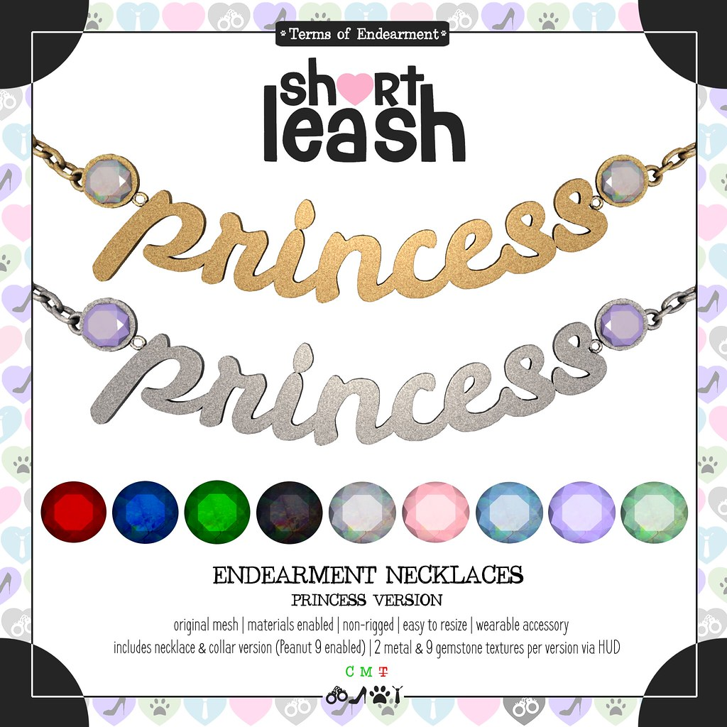 .:Short Leash:. Endearment Necklaces – Princess Version