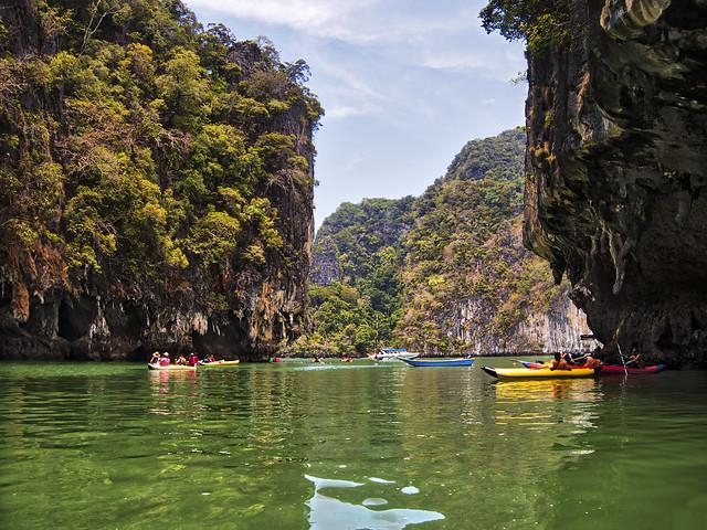 Canoeing at Hong Island, Thailand