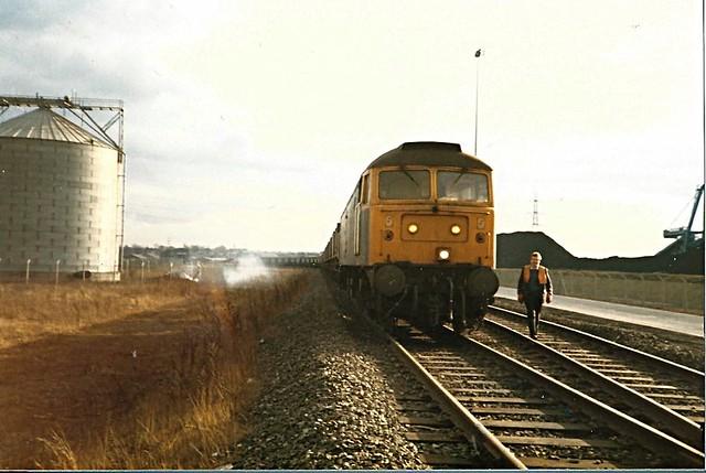 Class 47 Tyne Coal Terminal, South Shields. c 1987-88